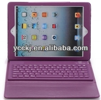 hot new products for 2014 PU leather bluetooth keyboard case cover for ipad 5