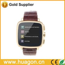 3G smart watch phone, Android 4.4 support WIFI GPS Facebook Twitter Skype - Gold