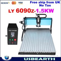 No taxes ship from UK! High Speed professional cnc router engraving machine cnc 6090 with Mach 3 controller for wood metal