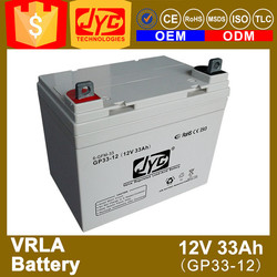 ISO CE ROHS TLC Certificate 12v 33ah vrla battery with good price