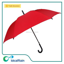 Red plastic hook handle umbrella for attractive gift items