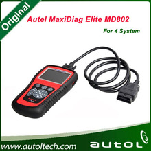 Hot Selling for Autel MaxiDiag Elite MD802 4 System Supports all 10 test modes of the latest J1979 OBD II test specs