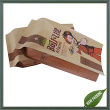 Gravure Printing Surface Handling and Heat Seal Sealing & Handle Custom Printing kraft paper bag for snack food packaging