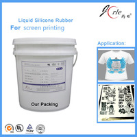 Two component screen printing liquid silicone rubber for textile products