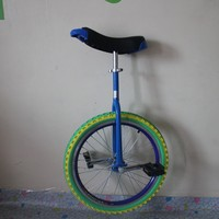 20 inch one wheel bike Single wheel bicycle Double Alloy rim CE certificate Blue color