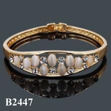 ingrosso alibaba cina fabbrica opale ovale moda in oro placcato 14k braccialetto