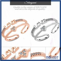 LOVE HEART fashion finger rings, wedding ring with heart imprint, heart shaped ring designs
