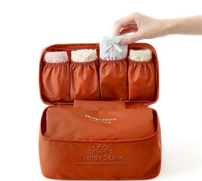 женщины девушка бюстгальтер белье белье Организатор мешка косметический макияж туалетных мыть случае бюстгальтер сумка путешествия