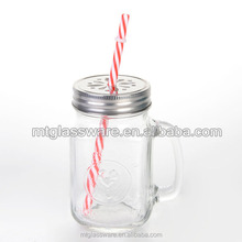 16 oz rooster empty style Clear MASON JAR for juice water wine cocktail for sale