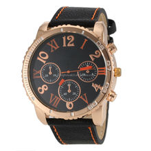 2015 new big face dial alloy men cool cheap watches made with leather or fabric band high quality good for retail business