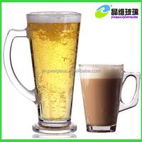 Promotional Glass Mug For Drinking Beer/Tea/Coffee