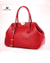 2015 wholesale ladies fashion elegance genuine leather satchel women's handbag for sale