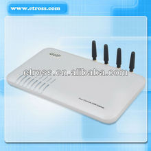 4 ports 4 SIM cards GoIP / GSM gateway with VoIP inside