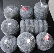 galvanized metal scourer with nylon net bag packing