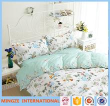European flower Style reactive printed bedding sets 100% cotton