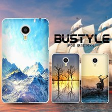Wholesale simi-transparent phone cover cases for MEIZU X4 With Literature and art design