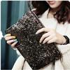 Shiny bulk handheld zipper makeup bag , sequin cosmetic bag gold