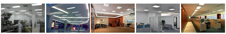Flexible recessed led ceiling light with PMMA diffuser