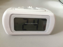 Digital LCD clock with backlight and snooze