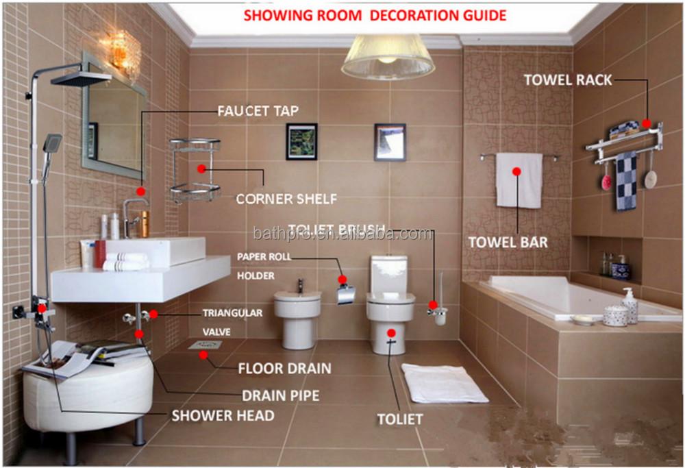 Decorativi hotel piccolo pensile in metallo bagno mensola angolare ...