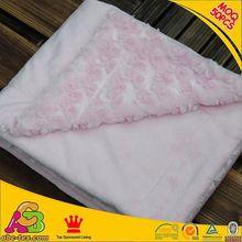 10PCS MOQ customized designs 2 layers Oeko Tex 100 Europe fashion embroider baby blanket