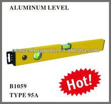 2 vials yellow aluminum spirit level