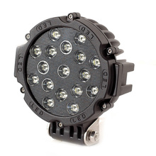BLACK/YELLOW/RED Offroad Vehicles 30,000Hrs 6000-6500k 12v/24v led headlight 7inch 51w led work light flood spot for 4x4
