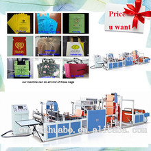 Top sale HUABO Machinery 3 side sealing bag making machine