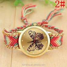 Alibaba china market woven belt watch