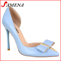 2016 fashion pumps slim high heel pointed shoes for lady