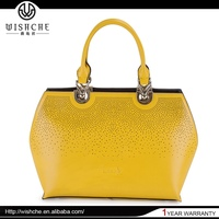 Wishche Custom Made New Products Women Satchel Bags 2015 Fashion Lady Leather Handbag Women Wholesale Leather Bags in Dubai W025