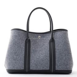 2015 Custom 3mm thick felt tote bag for shopping,pu handle