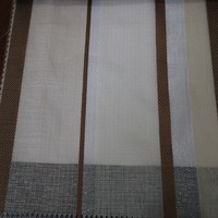 Classic hotel used woven stripe sheer organza curtain fabric for Ikea drapery