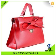 21 century modern women lucky red hand bag with bowknot