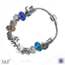 sf5550014 925 encantos pulseira de prata esterlina da fábrica