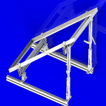 2015 t slot anodized solar panel mounting kits for flat roof and concrete ground