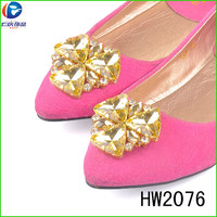 HW2076 The cheap lady shoes flower buckles decorated buckles Turkey