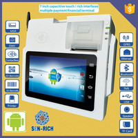 7 Inch Android Intelligent Tablet POS Terminal With WIFI, 3G, Bluetooth