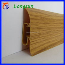 durable wood grain home decking pvc skirting board plastic baseboard