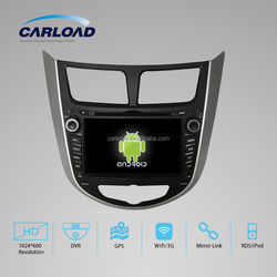 8in Touch screen 2 Din Hyundai Car DVD Player for Hyundai verna with GPS, iPOD, TV, Wifi, 3G functions