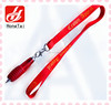 Beautiful polyester silk-printing promotion pen lanyard ,cell phone neck straps