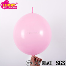 2015 Hot sale Metal Color Link o Loon Latex Balloon Party Ballons
