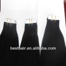 2016 hot sale PU hair/skin weft 100% vergin human human hair alibaba in spain