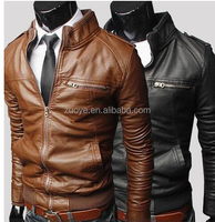 Classic Fashion Wholesale Top Quality Good Shape original leather jacket for men