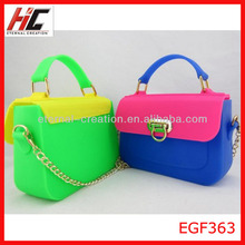 2014 best seller kid silicone hand bag girls tote candy sand bag factory direct sell