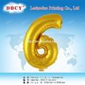Dbcy número seis importação balões metálicos para carnaval decoração