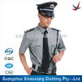 de manga corta de la guardia de seguridad de uniforme militar