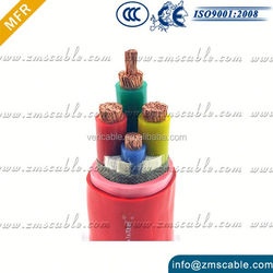 Fire resistance cable 4 core copper cable armoured electric power cable
