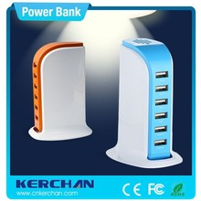 Mobile power supply guangdong , alibaba express in electronics , 6 port Multi-usb portable mobile phone charger