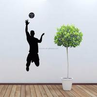 Removable 3d vinyl sports basket ball player wall stickers for boys rooms Basketball sport (GYD 02)